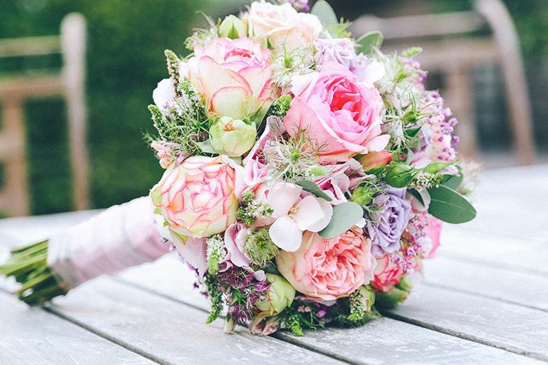 Brautstrauß rosa Einfach Heiraten