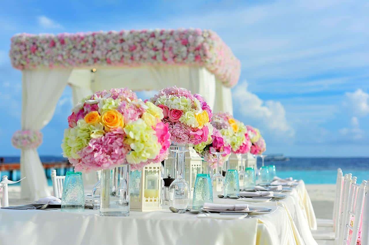 Farbenfrohe Hochzeit