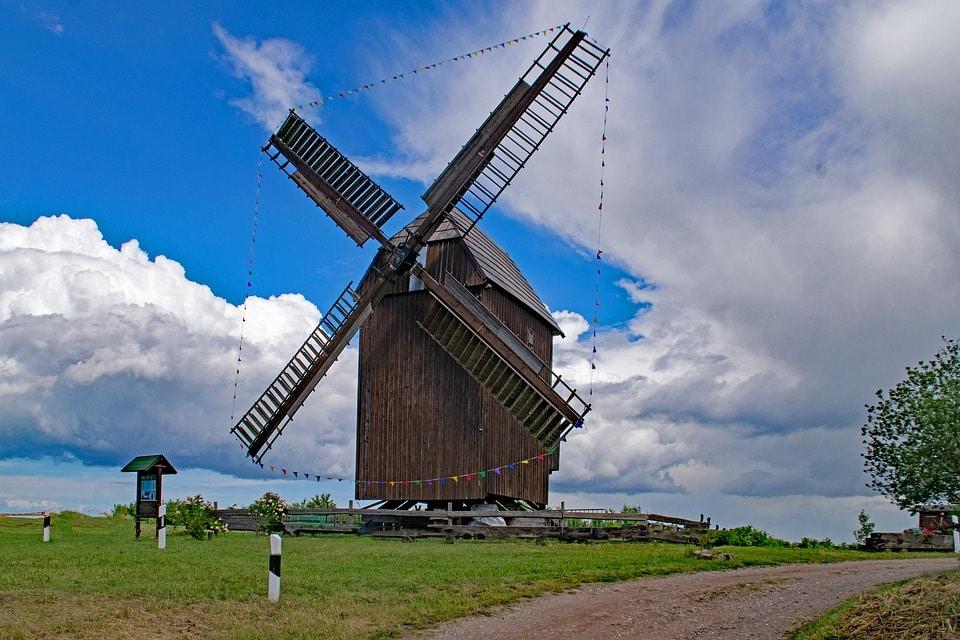 Mühle, Sachsen, Blauer Himmel, Straße, Wiese, Einfach Heiraten