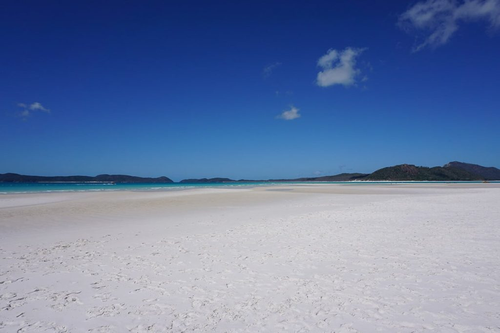 """Der weiße Sandstrand """"Whitehaven Beach"""""""